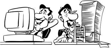 Άτομα που απασχολούνται στο σχέδιο διανυσματικό Clipart κινούμενων σχεδίων Στοκ εικόνα με δικαίωμα ελεύθερης χρήσης