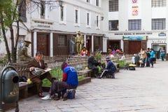 Άτομα που γυαλίζουν τα παπούτσια Στοκ φωτογραφία με δικαίωμα ελεύθερης χρήσης