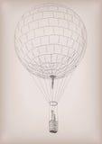 Άτομα που πετούν στο μπαλόνι αέρα Διανυσματική όμορφη κάθετη κινηματογράφηση σε πρώτο πλάνο sid Στοκ Εικόνες
