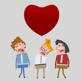Άτομα που ψάχνουν την αγάπη Στοκ εικόνες με δικαίωμα ελεύθερης χρήσης