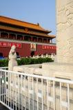 άτομα πυλών του Πεκίνου tian στοκ εικόνα με δικαίωμα ελεύθερης χρήσης