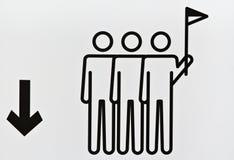 άτομα σημαιών μικρά Στοκ φωτογραφία με δικαίωμα ελεύθερης χρήσης