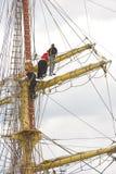 Άτομα στον ιστό σκαφών Στοκ εικόνες με δικαίωμα ελεύθερης χρήσης