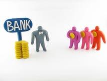 άτομα τρία υπαλλήλων τραπεζών Στοκ εικόνα με δικαίωμα ελεύθερης χρήσης