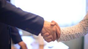 άτομα χεριών που τινάζουν δύο απόθεμα βίντεο