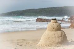 Άτομο άμμου Στοκ φωτογραφίες με δικαίωμα ελεύθερης χρήσης