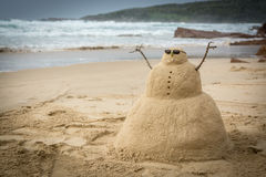 Άτομο άμμου Στοκ εικόνα με δικαίωμα ελεύθερης χρήσης