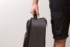 Άτομο έτοιμο για το ταξίδι με τις αποσκευές του Στοκ φωτογραφίες με δικαίωμα ελεύθερης χρήσης