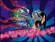 άτομο ακουστικών ογκώδ&epsilo ελεύθερη απεικόνιση δικαιώματος