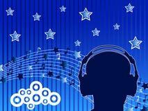 άτομο ακουστικών Στοκ φωτογραφίες με δικαίωμα ελεύθερης χρήσης