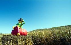 άτομο αποκριών μπαλονιών στοκ φωτογραφία