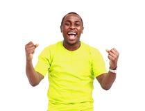 Άτομο αφροαμερικάνων που απομονώνεται στο άσπρο υπόβαθρο Στοκ Εικόνες