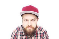 Άτομο γενειοφόρο, πορτρέτο με το αστείο άτομο Στοκ φωτογραφία με δικαίωμα ελεύθερης χρήσης
