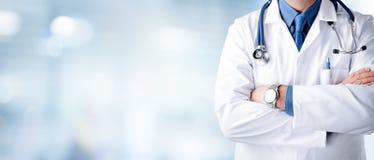 Άτομο γιατρών με το στηθοσκόπιο Στοκ εικόνα με δικαίωμα ελεύθερης χρήσης
