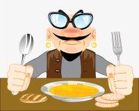 Άτομο για το γεύμα ελεύθερη απεικόνιση δικαιώματος