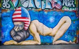 Άτομο γκράφιτι Στοκ φωτογραφία με δικαίωμα ελεύθερης χρήσης