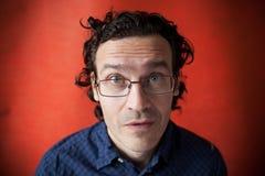 άτομο γυαλιών δασύτριχο Στοκ Εικόνες