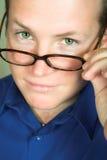 άτομο γυαλιών Στοκ Φωτογραφία