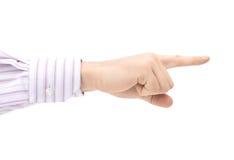άτομο δάχτυλων που δείχν&epsi στοκ εικόνες με δικαίωμα ελεύθερης χρήσης