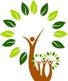 Άτομο δέντρων τέχνης απεικόνιση αποθεμάτων