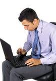 άτομο επιχειρησιακών lap-top Στοκ φωτογραφία με δικαίωμα ελεύθερης χρήσης