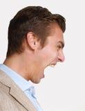 Άτομο θυμού. Στοκ Φωτογραφίες