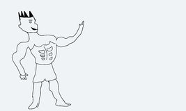 άτομο ισχυρό Στοκ φωτογραφία με δικαίωμα ελεύθερης χρήσης