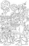 άτομο κήπων Στοκ εικόνα με δικαίωμα ελεύθερης χρήσης