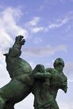 Άτομο και άλογο Στοκ εικόνα με δικαίωμα ελεύθερης χρήσης