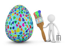 Άτομο και αυγό Πάσχας Στοκ εικόνα με δικαίωμα ελεύθερης χρήσης