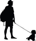 Άτομο και σκυλί Στοκ Εικόνα