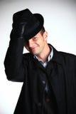 άτομο καπέλων γκάγκστερ Στοκ εικόνες με δικαίωμα ελεύθερης χρήσης