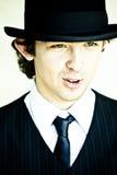 άτομο καπέλων σφαιριστών στοκ εικόνα με δικαίωμα ελεύθερης χρήσης