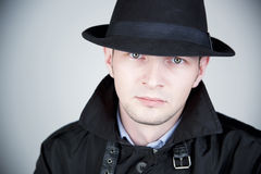 άτομο καπέλων Στοκ φωτογραφίες με δικαίωμα ελεύθερης χρήσης