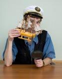 άτομο ΚΑΠ sailer ομοιόμορφο Στοκ Φωτογραφία