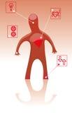 άτομο καρδιών Στοκ φωτογραφία με δικαίωμα ελεύθερης χρήσης