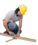 Άτομο κατασκευής Στοκ Φωτογραφία