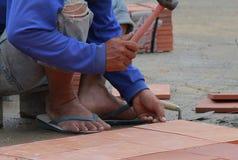 άτομο κατασκευής Στοκ Εικόνα