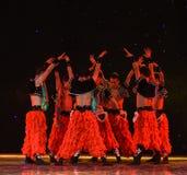 Άτομο-κινεζικός λαϊκός χορός aobao-λιβαδιών Στοκ εικόνες με δικαίωμα ελεύθερης χρήσης