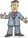 Άτομο κινούμενων σχεδίων στο κοστούμι διανυσματική απεικόνιση