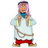 Άτομο κινούμενων σχεδίων στον αραβικό ιματισμό Στοκ φωτογραφίες με δικαίωμα ελεύθερης χρήσης