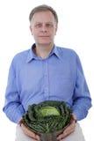 άτομο λάχανων Στοκ φωτογραφίες με δικαίωμα ελεύθερης χρήσης