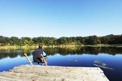 άτομο λιμνών Στοκ φωτογραφία με δικαίωμα ελεύθερης χρήσης