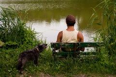 άτομο λιμνών Στοκ φωτογραφίες με δικαίωμα ελεύθερης χρήσης