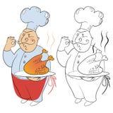 άτομο μαγείρων διανυσματική απεικόνιση