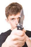 άτομο μαχαιριών Στοκ Εικόνα