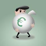 Άτομο & μεγάλη τσάντα χρημάτων - ευρώ απεικόνιση αποθεμάτων