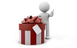 Άτομο με ένα δώρο Στοκ φωτογραφία με δικαίωμα ελεύθερης χρήσης
