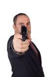 Άτομο με ένα πυροβόλο όπλο στοκ φωτογραφία με δικαίωμα ελεύθερης χρήσης