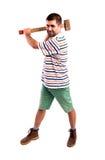 Άτομο με ένα τσεκούρι Στοκ φωτογραφία με δικαίωμα ελεύθερης χρήσης